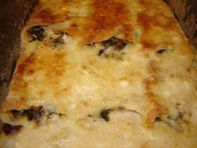 Clatite la cuptor cu spanac si branza / Baked pancakes with spinach and cheese, Poza 3