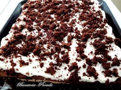 Prajitura cu crema ganache de ciocolata