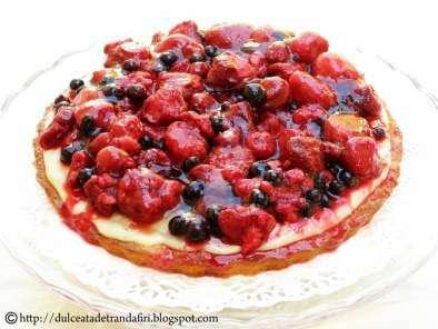 Prăjitură cu fructe DE pădure congelate